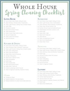 Whole House Spring Cleaning Checklist