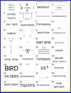 Word Picture Puzzles Printable