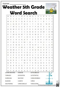 5th Grade Word Search to Print