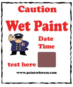Funny Wet Paint Sign
