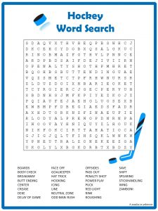 Hockey Team Word Search