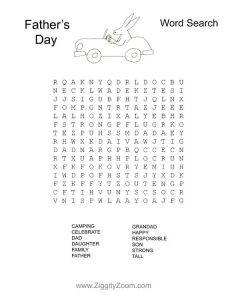 Images of Father's Day Word Search