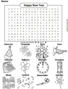 New Year Word Search Image