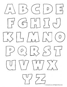 Printable Bubble Letters for Bulletin Boards
