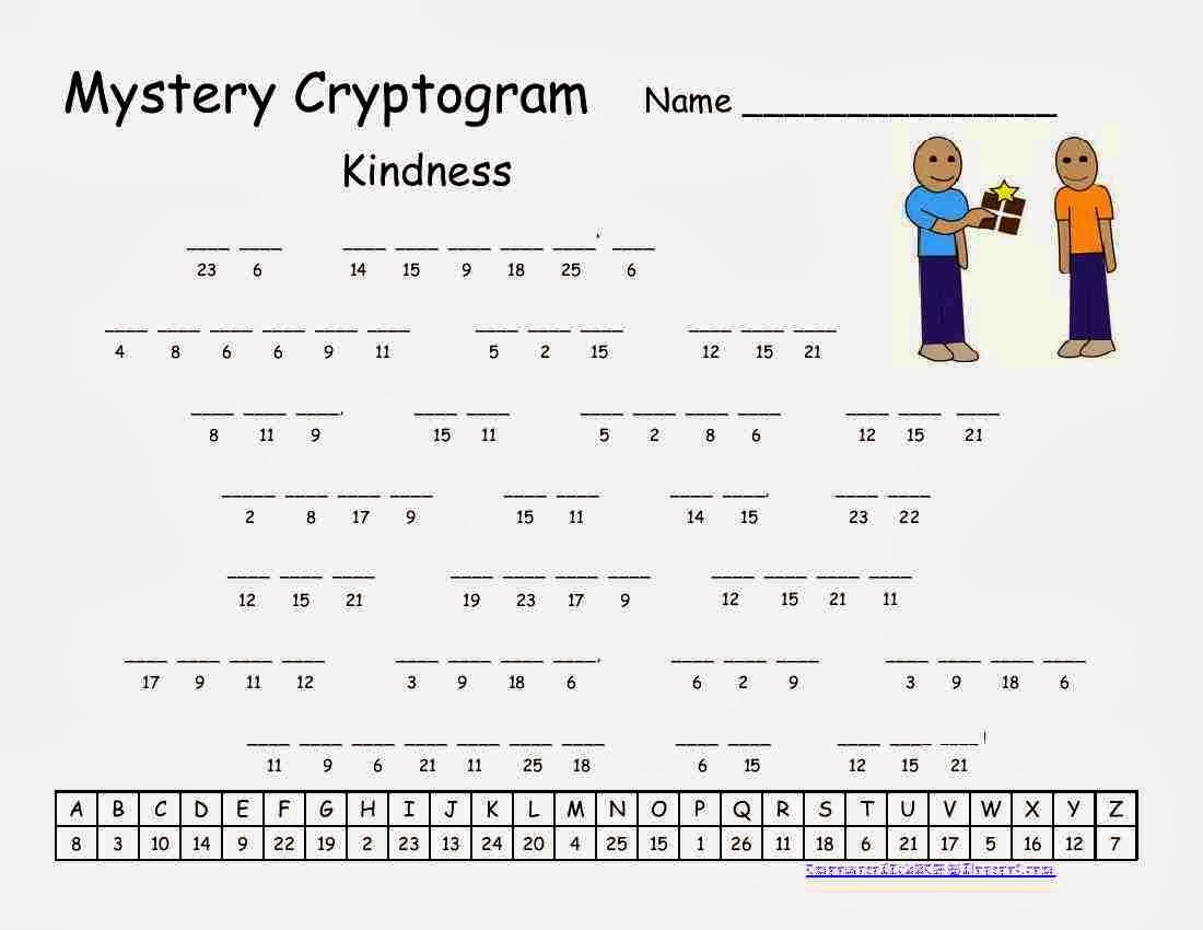 16 Puzzling Printable Cryptograms Kitty Baby Love