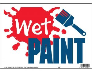 Sign of Wet Paint