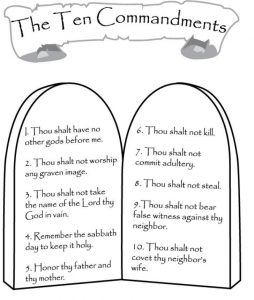 Ten Commandments to Print