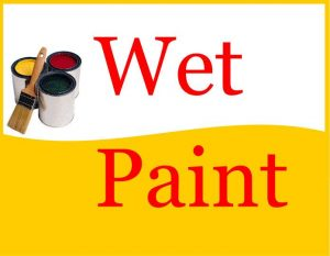 Wet Paint Sign Free Printable
