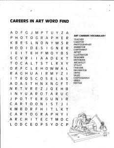 Art Careers Word Search