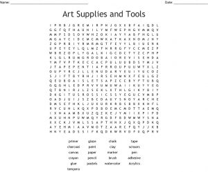Art Class Tools Word Search