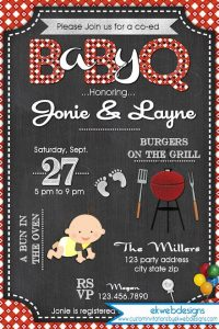 BBQ Baby Shower Invitations Pictures