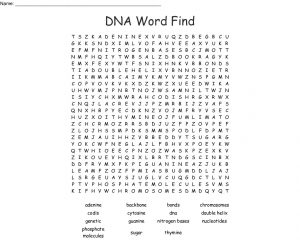 DNA Word Search Printable