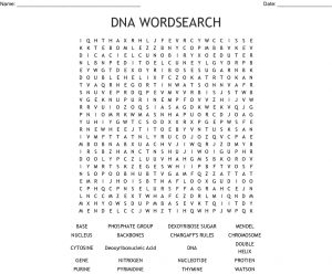 DNA Word Search Puzzle
