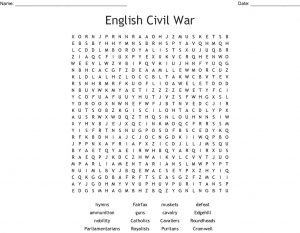 English Civil War Word Search