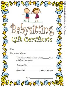 Funny Babysitting Coupons