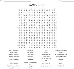 James Bond Word Search