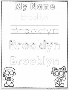 Name Tracing Worksheets for Toddlers