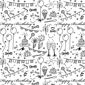 Printable Birthday Wrapping Paper