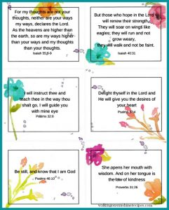 Printable Mothers Day Bible Verses