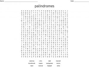 Printable Palindrome Word Search