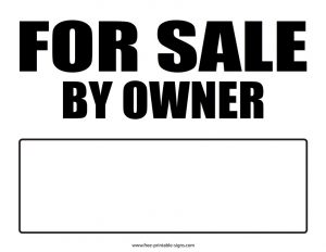 Printable for Sale Sign Image