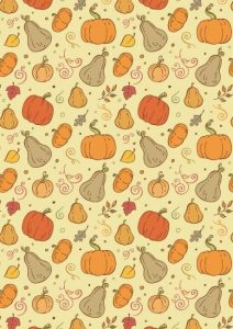 Thanksgiving Printable Wrapping Paper