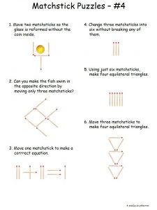 Toothpick Puzzles for Kids