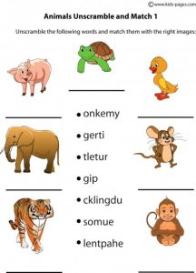Unscramble Animal