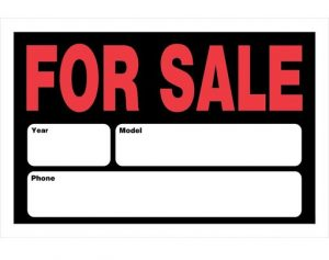 Vehicle for Sale Sign Printable